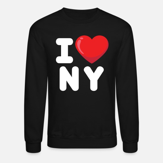Ny Hoodies & Sweatshirts - i love new york, newyork, ny - Unisex Crewneck Sweatshirt black