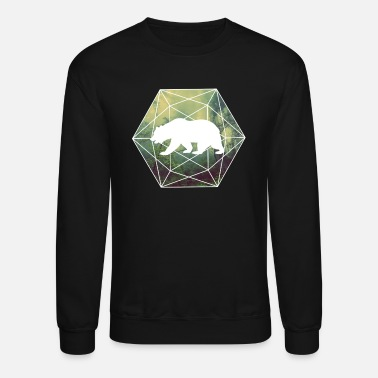 Geometry baer braunbaer nature forest geometry - Unisex Crewneck Sweatshirt