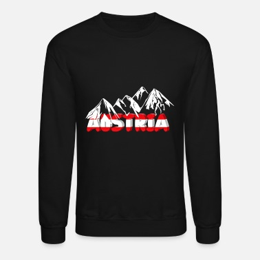 Austria Austria and mountains - Unisex Crewneck Sweatshirt