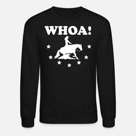 Gift Idea Hoodies & Sweatshirts - Western Riding Reining Rider horse love gift - Unisex Crewneck Sweatshirt black
