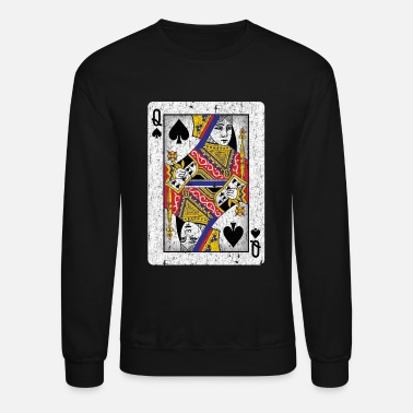 Playing queen of spades playing card - Unisex Crewneck Sweatshirt