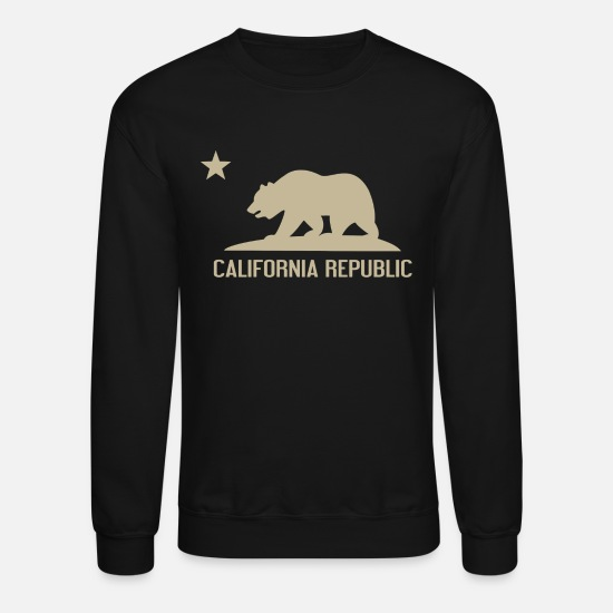 California Hoodies & Sweatshirts - California Republic - Unisex Crewneck Sweatshirt black