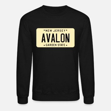 Avalon Avalon New Jersey License Plate - Unisex Crewneck Sweatshirt