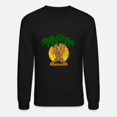 Palm Trees Palm Tree Used Look - Crewneck Sweatshirt