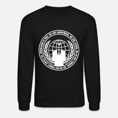 Narcotics Anonymous - anonymous - guy fawkes - we are ano - Unisex Crewneck Sweatshirt