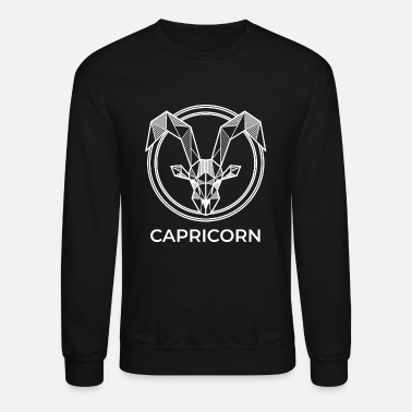 Geometry Capricorn zodiac sign geometric gift hipster birth - Unisex Crewneck Sweatshirt