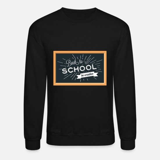 School Hoodies & Sweatshirts - Back To School Background - Unisex Crewneck Sweatshirt black