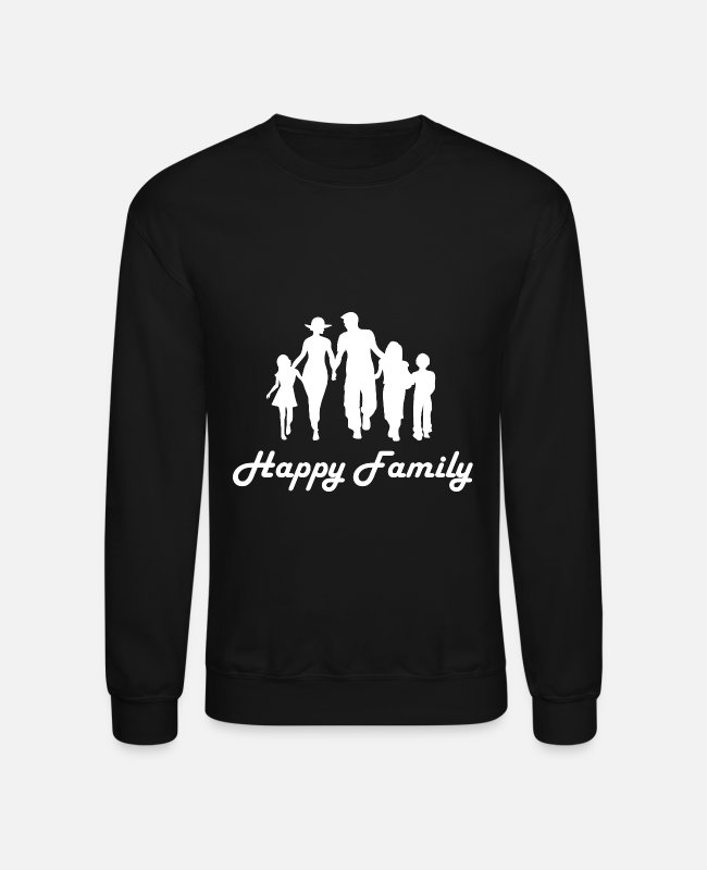 Familymeeting Hoodies & Sweatshirts - Family love - Unisex Crewneck Sweatshirt black