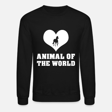Animals Horses animal horse heart - Unisex Crewneck Sweatshirt