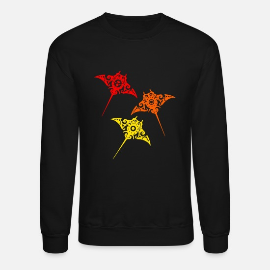 Symbol  Hoodies & Sweatshirts - Maori Batoidea Stingray Manta family Tribal Tattoo - Unisex Crewneck Sweatshirt black