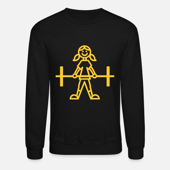 Weightlifting Hoodies & Sweatshirts - weightlifting woman - Unisex Crewneck Sweatshirt black