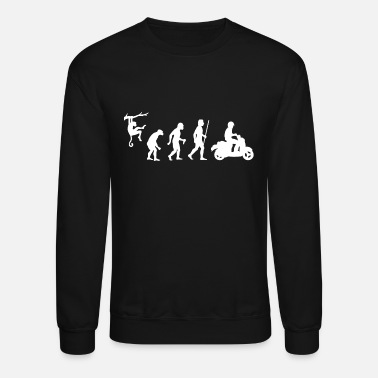 Moped Scooter - Evolution of Man and Scooter - Crewneck Sweatshirt