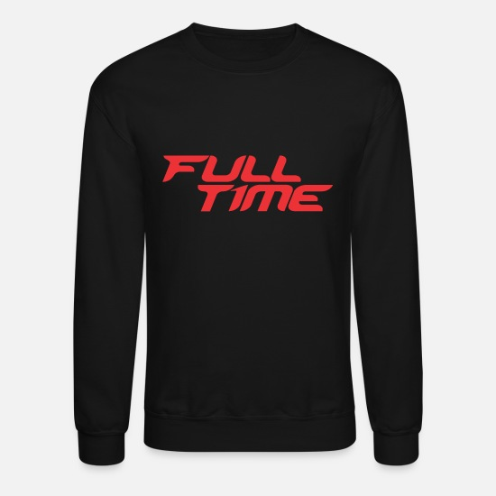 Full Hoodies & Sweatshirts - Full Time - Unisex Crewneck Sweatshirt black