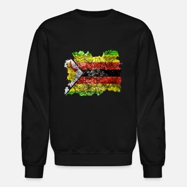 f591e3d52 Zimbabwe Zimbabwe Vintage Flag - Unisex Crewneck Sweatshirt