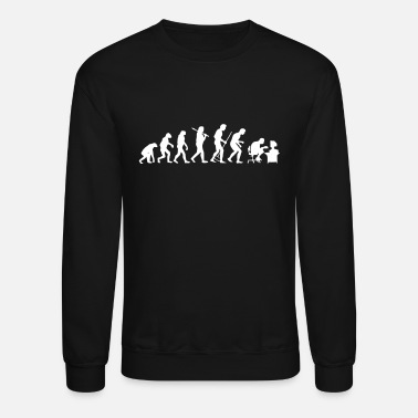 Scientist Evolution Computer Scientist Gamer Gift - Unisex Crewneck Sweatshirt
