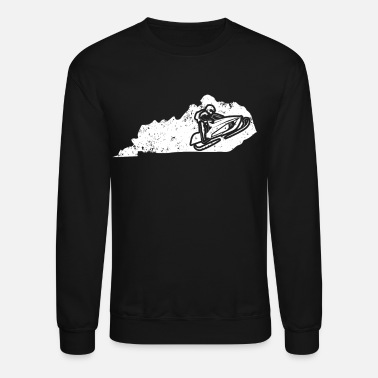 Racing Machine Snowmobile Racing Shirt Kentucky Snowmobile Machine - Crewneck Sweatshirt