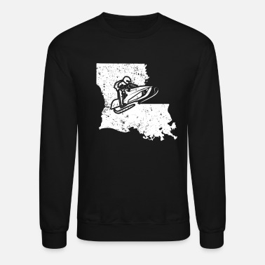Racing Machine Snowmobile Racing Shirt Louisiana Snowmobile Machine - Crewneck Sweatshirt