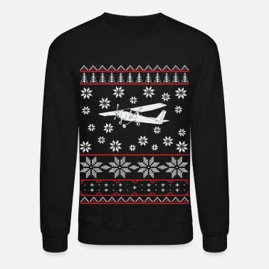 pilot airplane aircraft flying christmas gift - Crewneck Sweatshirt