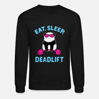 Panda Panda Deadlift Workout Weightlifting Bodybuilding - Unisex Crewneck Sweatshirt