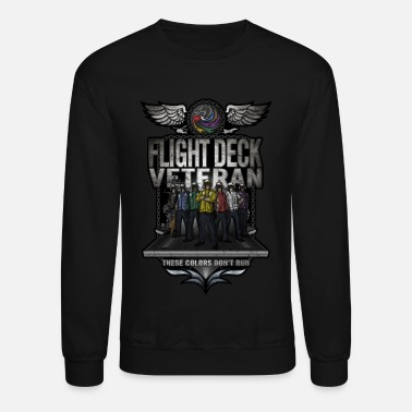 Chief Flight Deck Veteran These Colors Don't Run - Unisex Crewneck Sweatshirt