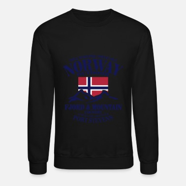 Norway Fjord & Mountain - Norway Flag - Unisex Crewneck Sweatshirt