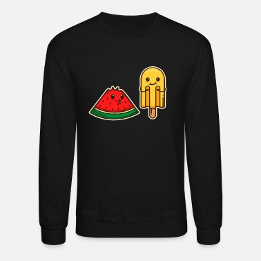 Colorcontest Kawaii Watermelon Soft Ice Cream Waffle Fresh Gift - Unisex Crewneck Sweatshirt
