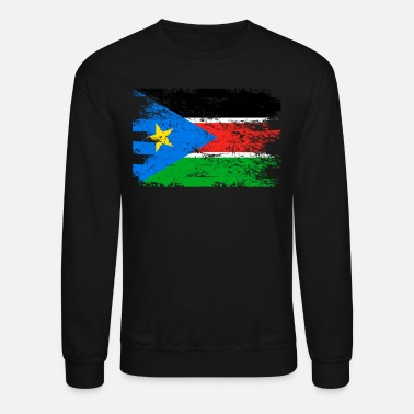 South Sudan South Sudan Shirt Gift Country Flag Patriotic Travel Africa Light - Crewneck Sweatshirt