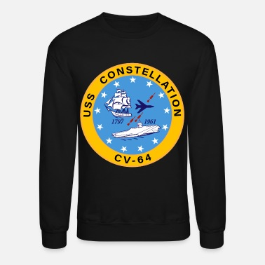 Constellation USS Constellation CV-64 Aircraft Carrier Insignia - Unisex Crewneck Sweatshirt