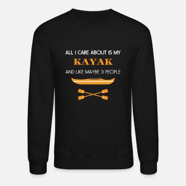 graphke All I Care About is Cannoeing and Like Maybe 2 People Unisex Crew Neck Sweatshirt