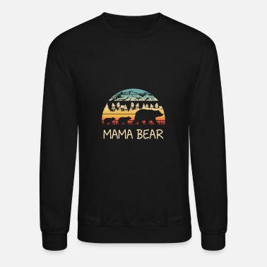 Mama Retro Mama Bear with 2 Cubs - Unisex Crewneck Sweatshirt