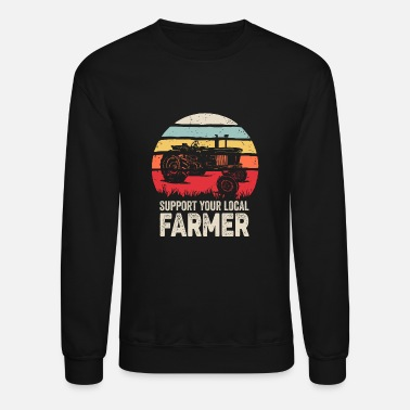 Retro Support Your Local Farmer Shirt Vintage Trac - Unisex Crewneck Sweatshirt