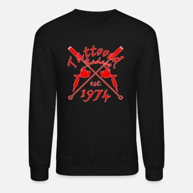 Year Of Birth Tattoo Badass year of birth 1974 - Unisex Crewneck Sweatshirt