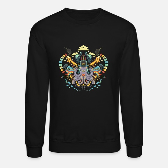 The Office Hoodies & Sweatshirts - Sea the Symmetry - Unisex Crewneck Sweatshirt black