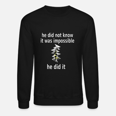 Creators t shirt impossible and makes man rip breach FC - Unisex Crewneck Sweatshirt