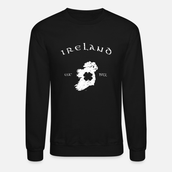 Ireland Hoodies & Sweatshirts - Ireland Vintage Map - Unisex Crewneck Sweatshirt black