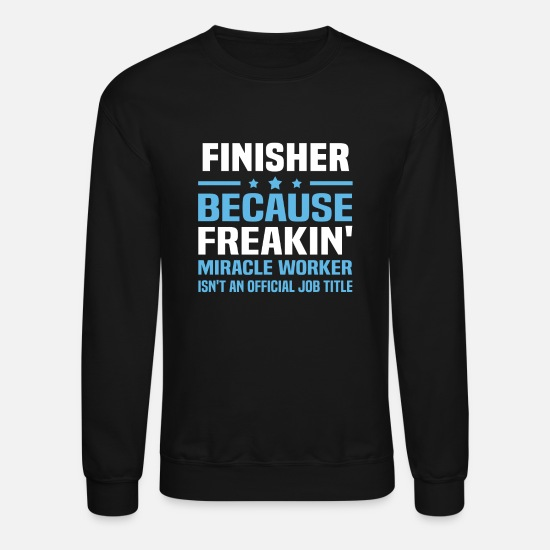 Finisher Shirts Hoodies & Sweatshirts - Finisher - Unisex Crewneck Sweatshirt black