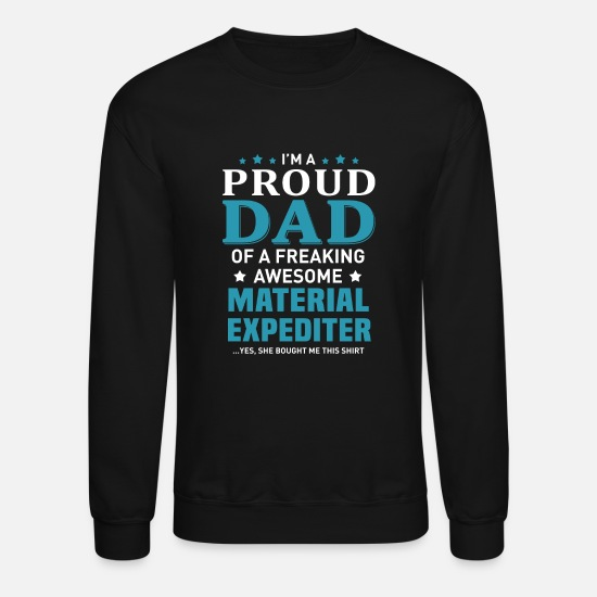 Father And Son Hoodies & Sweatshirts - Material Expediter - Unisex Crewneck Sweatshirt black