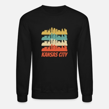 Kansas City Retro Kansas City MO Skyline Pop Art - Crewneck Sweatshirt