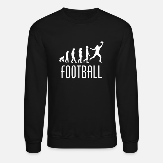 Wide Receiver Hoodies & Sweatshirts - Football Evolution Wide Receiver - Unisex Crewneck Sweatshirt black