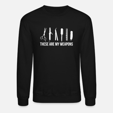 Hairdresser Retro barber barber scissors comb hair dryer gift - Crewneck Sweatshirt