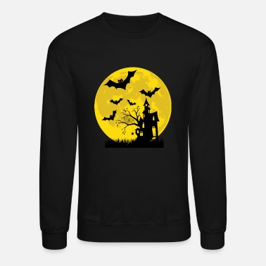 House Halloween haunted house party premium T shirt - Unisex Crewneck Sweatshirt