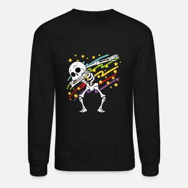 Rapper Dabbing Dab Skeleton Halloween Disco Party Music - Unisex Crewneck Sweatshirt