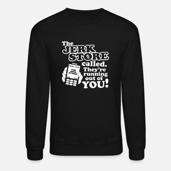 Stores Hoodies & Sweatshirts - The Jerk Store - Unisex Crewneck Sweatshirt black