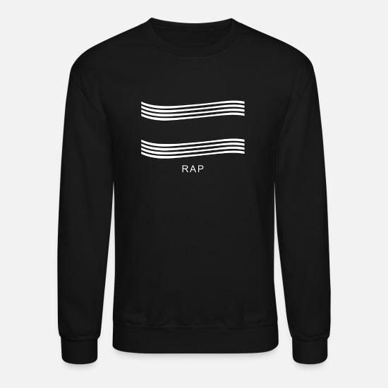 Rap Hoodies & Sweatshirts - Rap Design - Unisex Crewneck Sweatshirt black