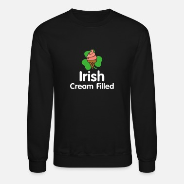 Cream Filled Irish Cream Filled Vintage Clover - Funny Irish Cream Shirt - Unisex Crewneck Sweatshirt