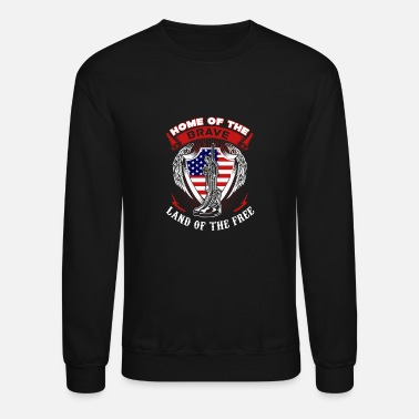 Saliboat Captain America Home of the brave land of the fr - Unisex Crewneck Sweatshirt