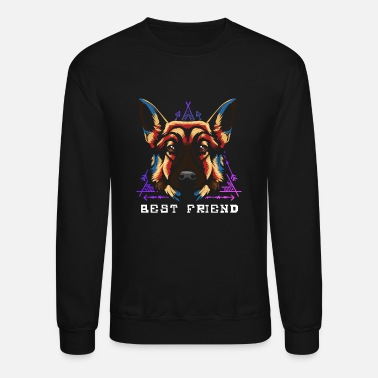 Dog Head Dog head German Shepherd - Crewneck Sweatshirt