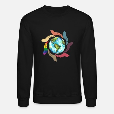 LGBT Awareness Hand - Unisex Crewneck Sweatshirt