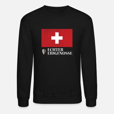 Swiss German Real Swiss Patriot Switzerland (Swiss-German) - Unisex Crewneck Sweatshirt