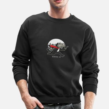 Hitman Cartoon hippo hitman 47 - Crewneck Sweatshirt